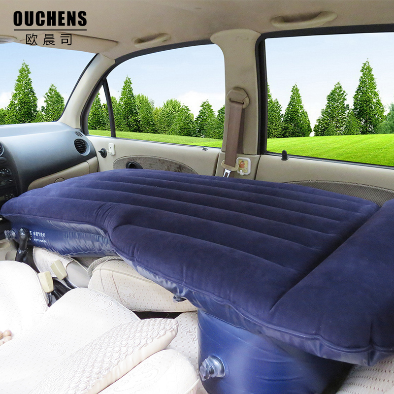 Adult car travel rest inflatable bed SUV and sedan with front and rear driving car explosion of new bed