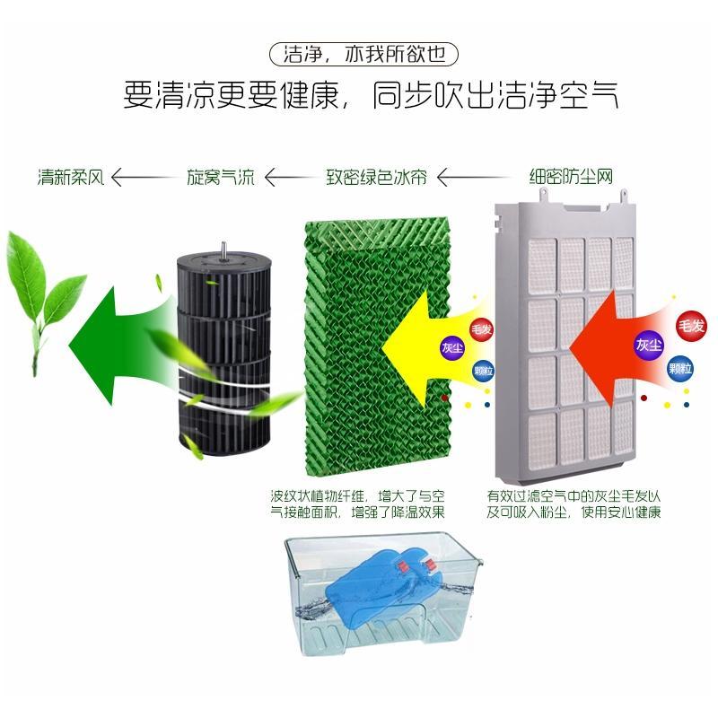 エアコンのうちわ单冷型水エアコン風機家庭用冷凍移動小エアコン寒いファン冷温型