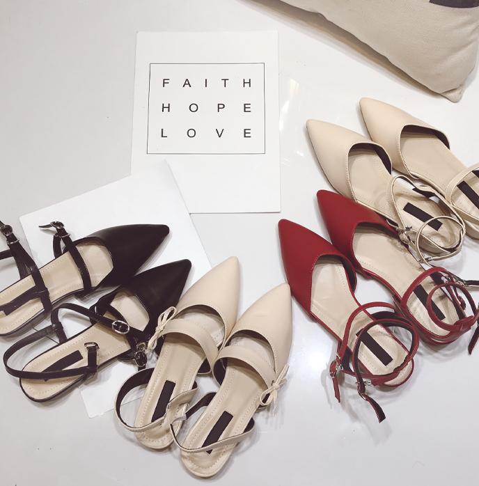 穆勒细带凉鞋女夏欧美交叉带中粗跟一字带复古简约包头罗马凉鞋女
