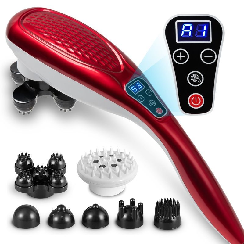 Dolphin massager, neck, waist, cervical massager, whole body electric massage stick, multi-function LCD screen