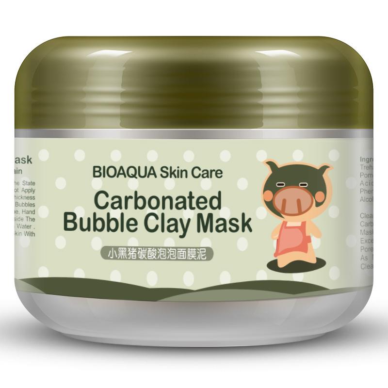 Fonte de oxigênio e um Porco Preto espuma de limpeza profunda Lama máscara hidratante matificante de verão feminino
