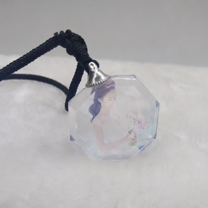 Colgantes de cristal tallado de bricolaje creativo collar de piedras y bolsas de mano de la personalidad de los regalos de cumpleaños de personalización de agua