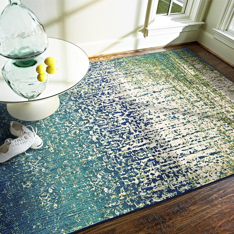 a szőnyeg nappaliban, amelyekben az egyiptomból származó, a modern divat egy asztalt a kanapé előtt szőnyeg