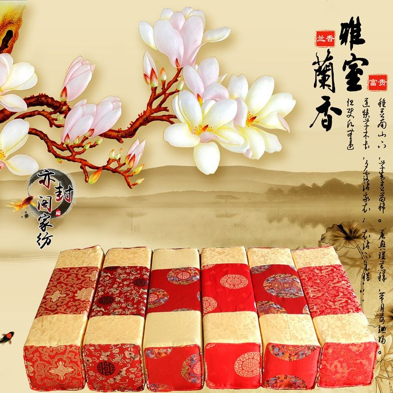 中国式のマホガニーソファーベッドに手すりを抱き枕羅漢クッション長方形腰枕包郵アンティークスポンジ枕をオーダー