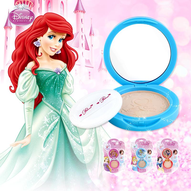 迪士尼小女孩儿童彩妆盒保湿无毒粉底粉饼女童专用化妆品5-6-9岁8