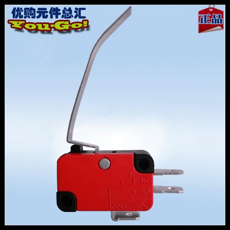 ZGZM Mikro - schalter ZW9-8XV-15-F12 Kupfer MIT 5A250VAC Lange gebogene Griff