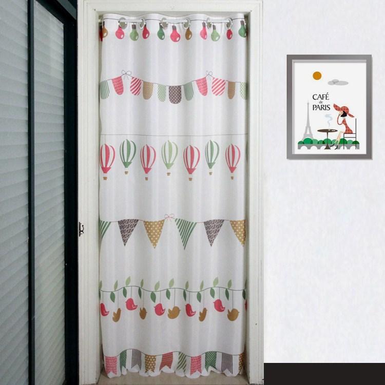 Le rideau de la chambre intérieure de Feng Shui de cuisine sans perforation rideau rideau de séparation de toilettes de style japonais de rideaux de personnalisation