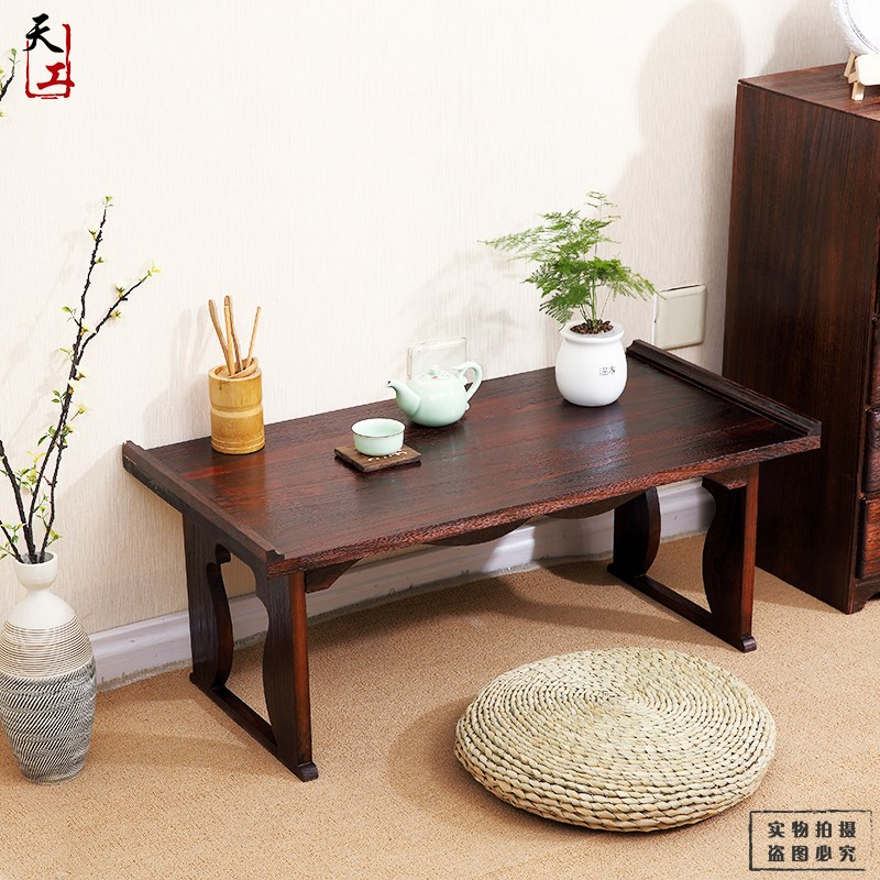 Japanese tatami folding bed lazy small tea table custom wood windows computer Ancient Chinese Literature Search learning desk table