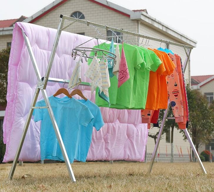 Boden - doppelte einfache BAR x - Haushalt kleiderbügel, Indoor - und Outdoor - trockenkammer Rahmen Hebel decke hängen.