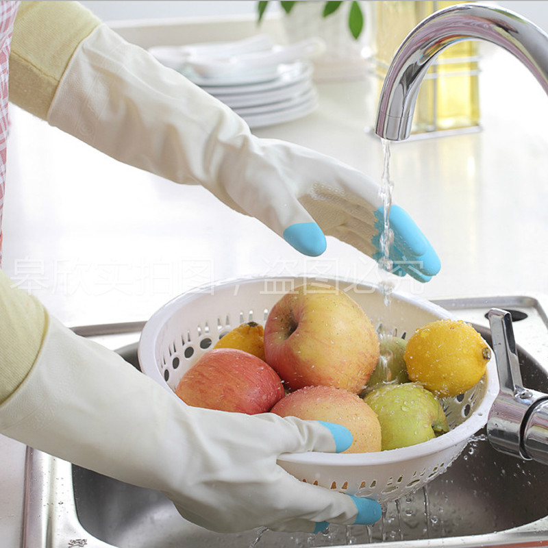 厨房家务洗碗橡胶手套加厚保暖清洁洗衣服乳胶耐用防水手套