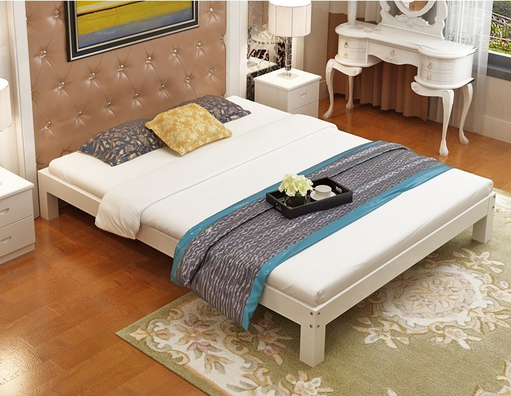 No bed solid wood double bed 1.8 meters 1.5 meters a tatami bed child bed 1 meters 1.2 meters single bed