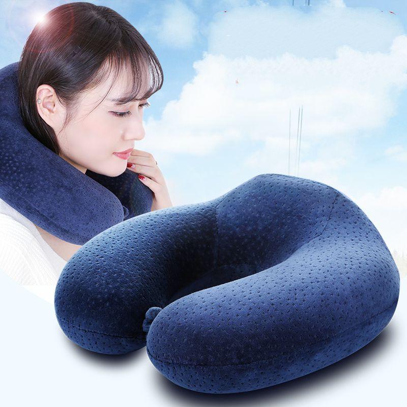 飛行機旅行u枕枕枕昼休み首保健昼寝護頚枕頸椎記憶u形枕u型T