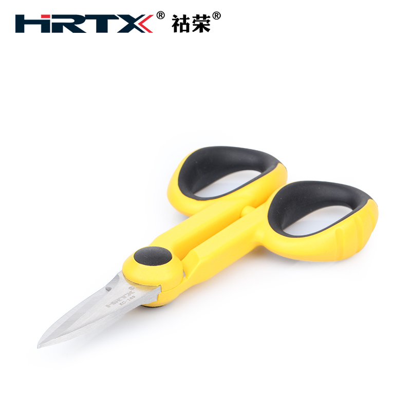 Hu Rong HRTX fiber Kevlar shears KC169 aramid fiber patch cord pigtail PINKING SHEARS