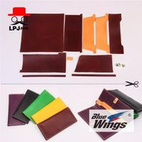 Old cobbler, vegetable tanned leather semi-finished materials package DIY handmade leather leather tool version Long Wallet package