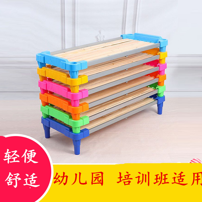 Practical wooden rice child 1.2 plastic can lunch bed, lazy children stacked bed, small management class portable