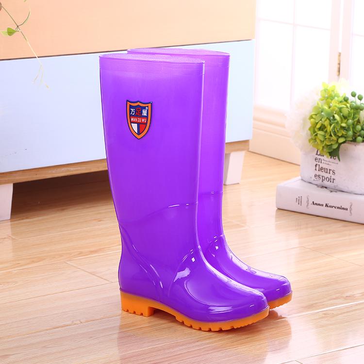 加绒雨鞋女士高筒保暖雨靴防滑女式水鞋中筒胶鞋成人加棉水靴套鞋