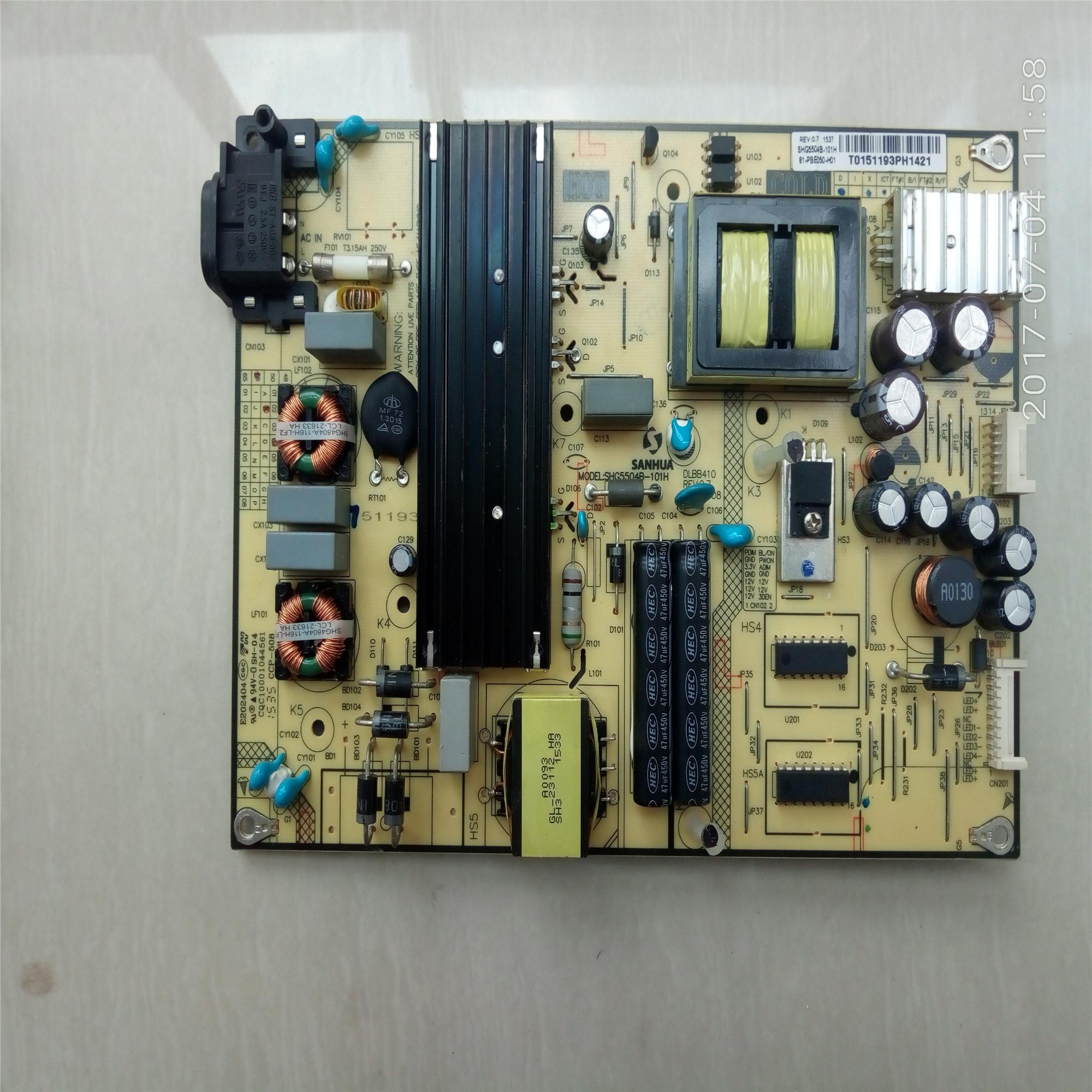 TCLD55A71055 polegadas LCD TV LCD Placa de potência Da Placa - mãe. A Placa de alimentação de Alta tensão TC1575 litros