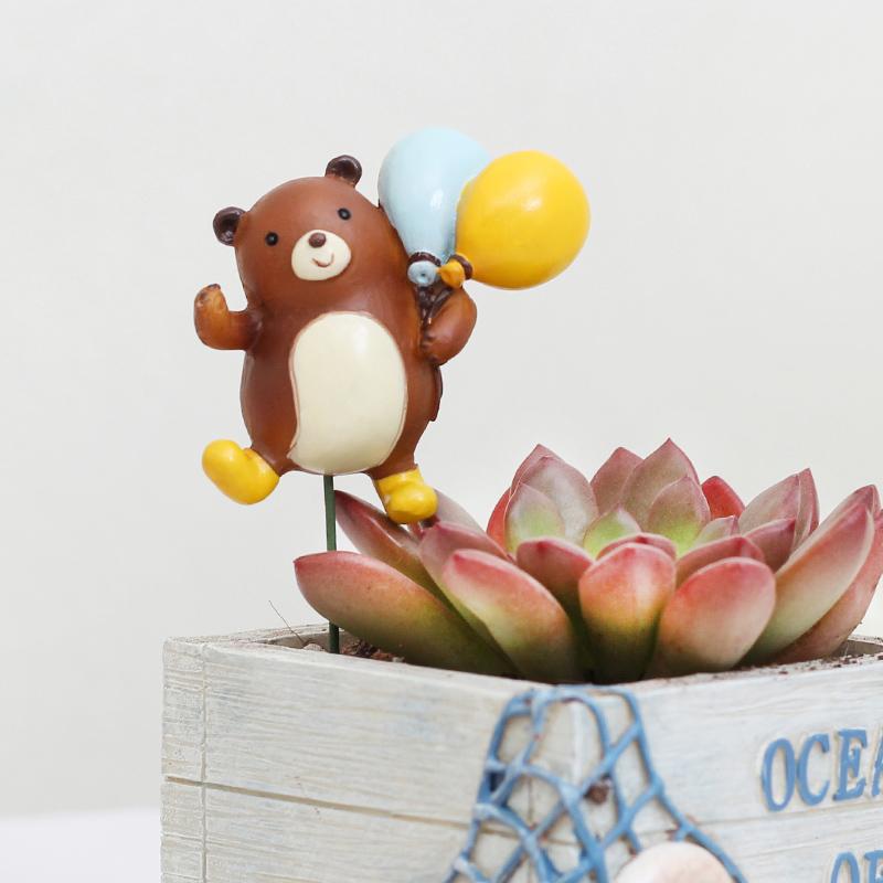 熊寶花插-超人創意可愛動物熊寶萌物diy場景搭配裝飾擺件拍攝道具盆景花插