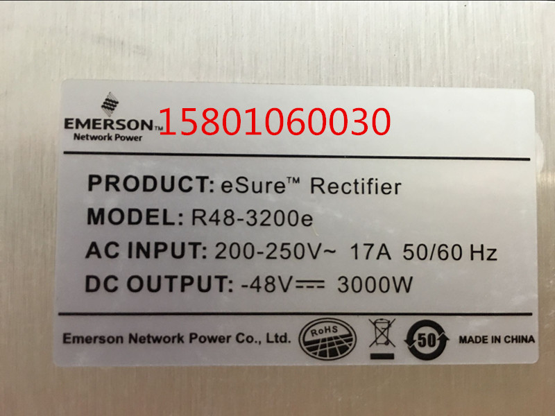 New Emerson R48-3200e power module