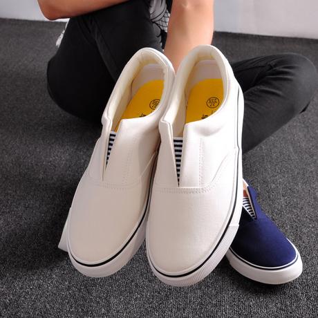 Летний Холст обувь Весна женщин кроссовки Корейский досуг для мужчин и женщин пары ленивый белые туфли Лок Фу обувь Обувь волны