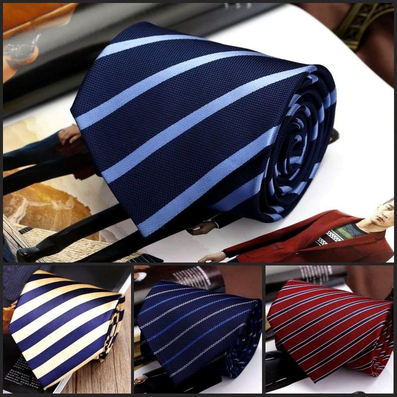 男士商務職業裝正裝工作服工裝條紋藍黑商務銀行酒店上班百搭領帶