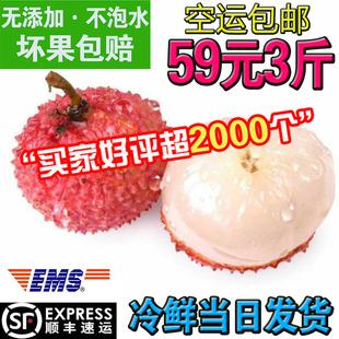 荔枝桂味妃子笑荔枝桂味大果现货59元3斤新鲜冰冻水果甜顺丰包邮