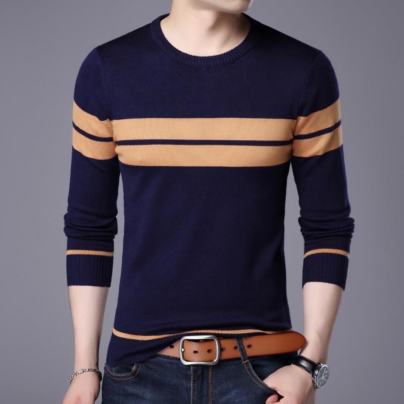 In autunno gli uomini ogni giorno Speciale Maglione Sottile camicia a Maniche lunghe. - la coltivazione di Marea a maglia con lo Scollo A V Di Giovani che maglietta