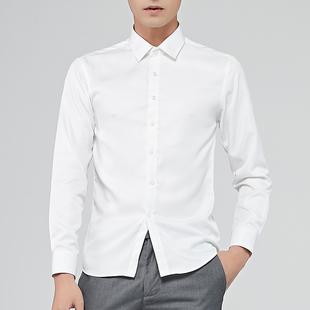 男士衬衫商务T恤白衬衫方领短袖衬衣男装