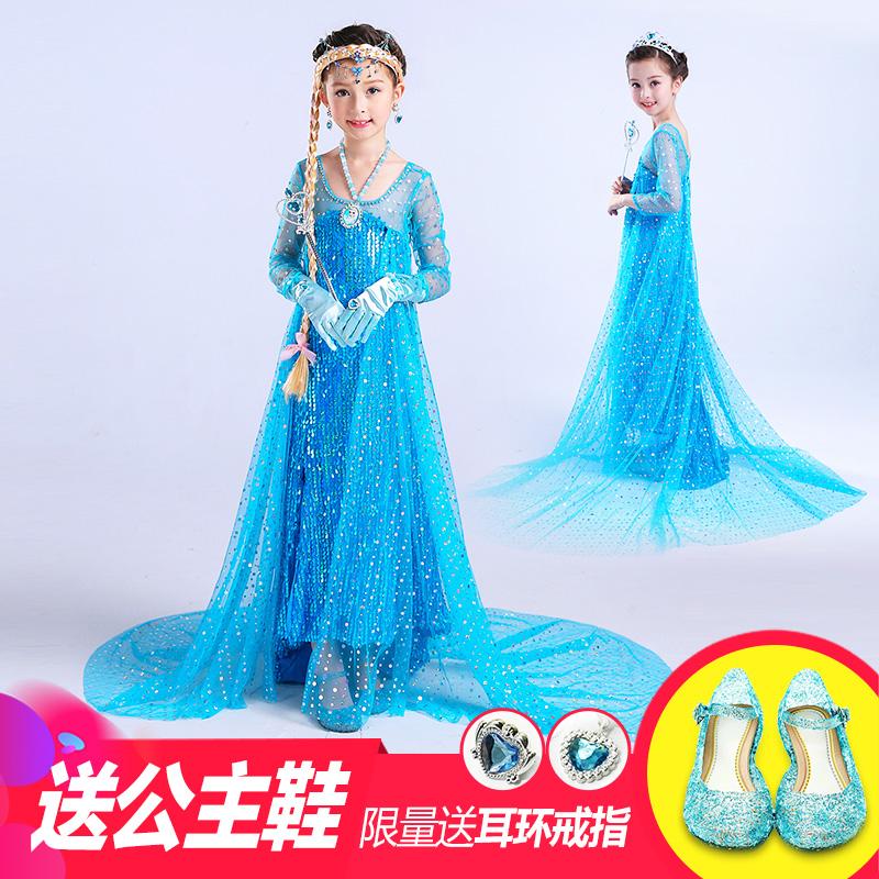 圣诞节儿童服装衣服冰雪奇缘爱莎白雪公主裙女童女孩化妆舞会裙子