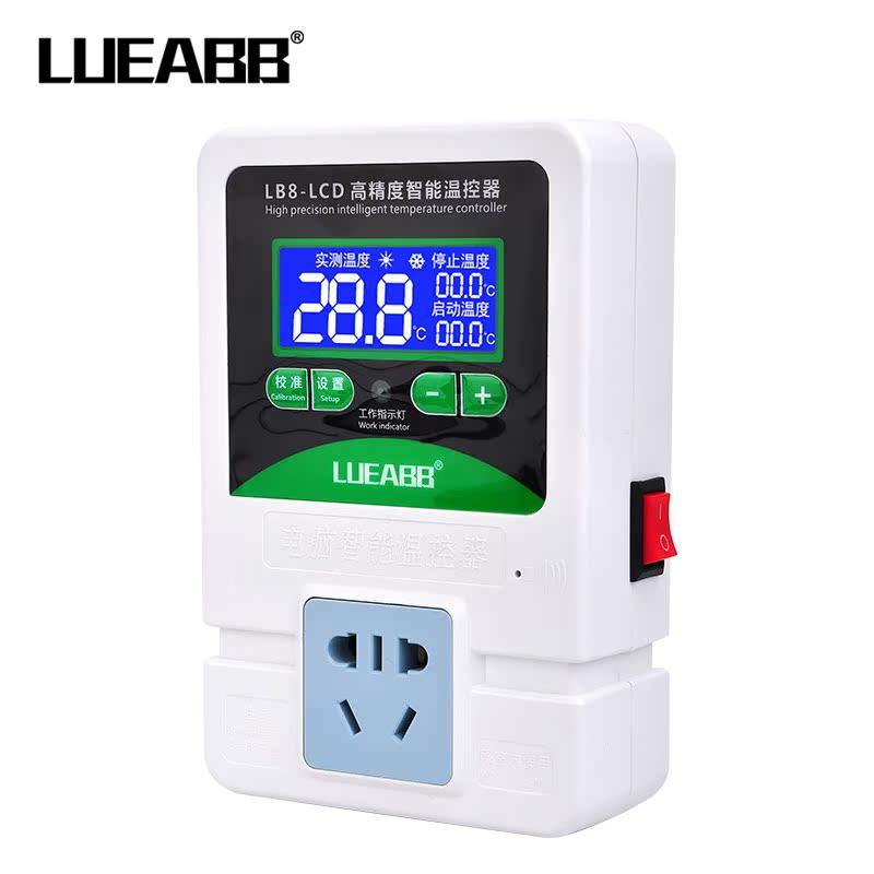 Het aantal micro - elektronische controle van de temperatuur in de computer intelligentie thermostaat temperatuur controleur over de precieze digitale aflezing.
