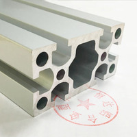 Aluminum profile, 8040 aluminum alloy profile, aluminum alloy square tube, aluminum pipe, foundation material, process: Electrophoresis