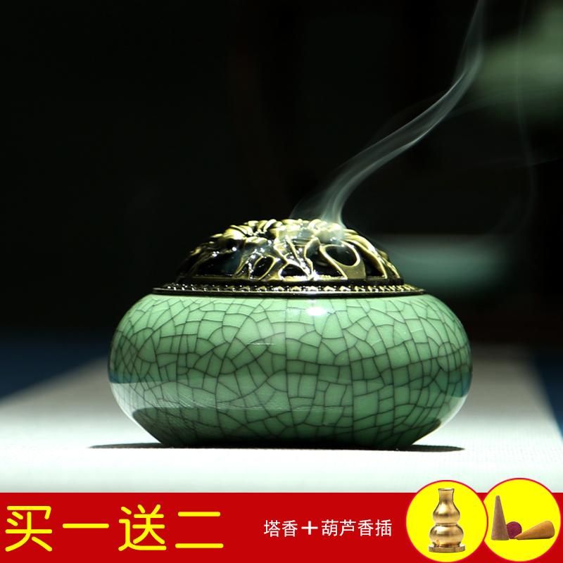Ароматерапия печи ручной старинные керамические Будда с алой кадило ладан фимиам сандалового дерева пакет mail
