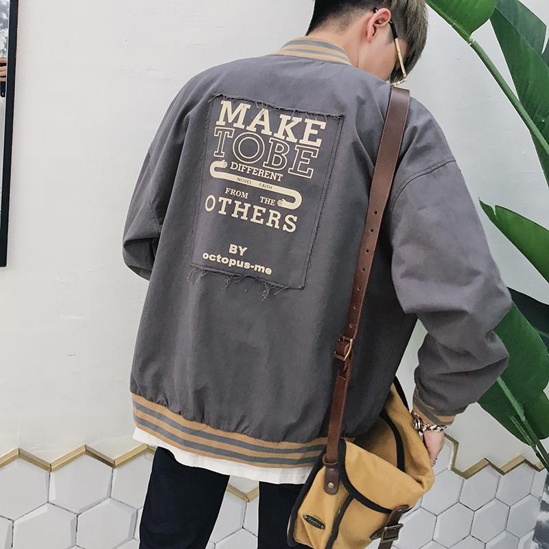 @ một lối văn nghệ Nam Xuân Thu đàn ông đẹp trai trend 2017 Leisure sinh viên khoác áo mới