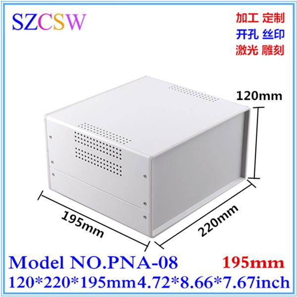 メーカー直販高級メタルケース殻殻ブリキのケースの機器の箱120x220x195板金
