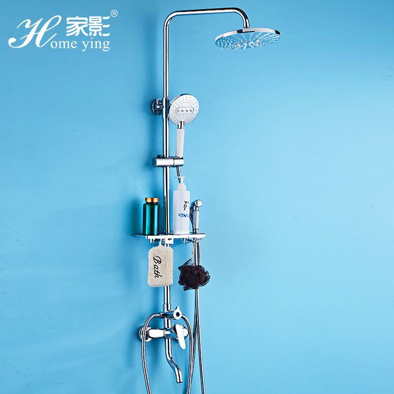 душ все медные холодной и горячей воды кран костюм турбонаддувом душ в ванной стены типа отмены дождь клапан смеситель