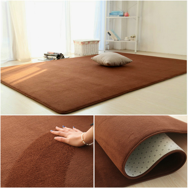 Table carpet thickened coral velvet covered with tatami household living room bedroom modern powder can be fixed bed pad