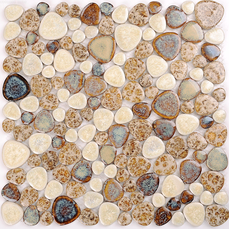 タイルれんがを飾りシンプル出窓玉石トイレベランダを装飾の陶磁器の庭園の景観の床の花園