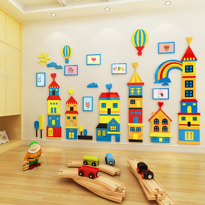 3D Wall Stickers Children's room decoration acrylic solid wall stickers cartoon nursery living room bedroom kindergarten wall