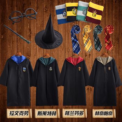 哈利波特cosplay衣服装 长袍 格兰芬多 服装 魔法袍 校服 斗篷