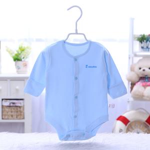 婴儿衣服夏季三角哈衣长袖纯棉男女宝宝爬服连体衣新生儿包屁衣