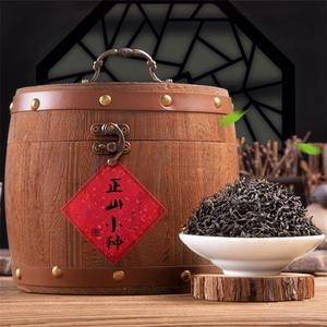 正山小种500g【蚂蚁望月茶艺】高端送礼实木木桶礼盒装