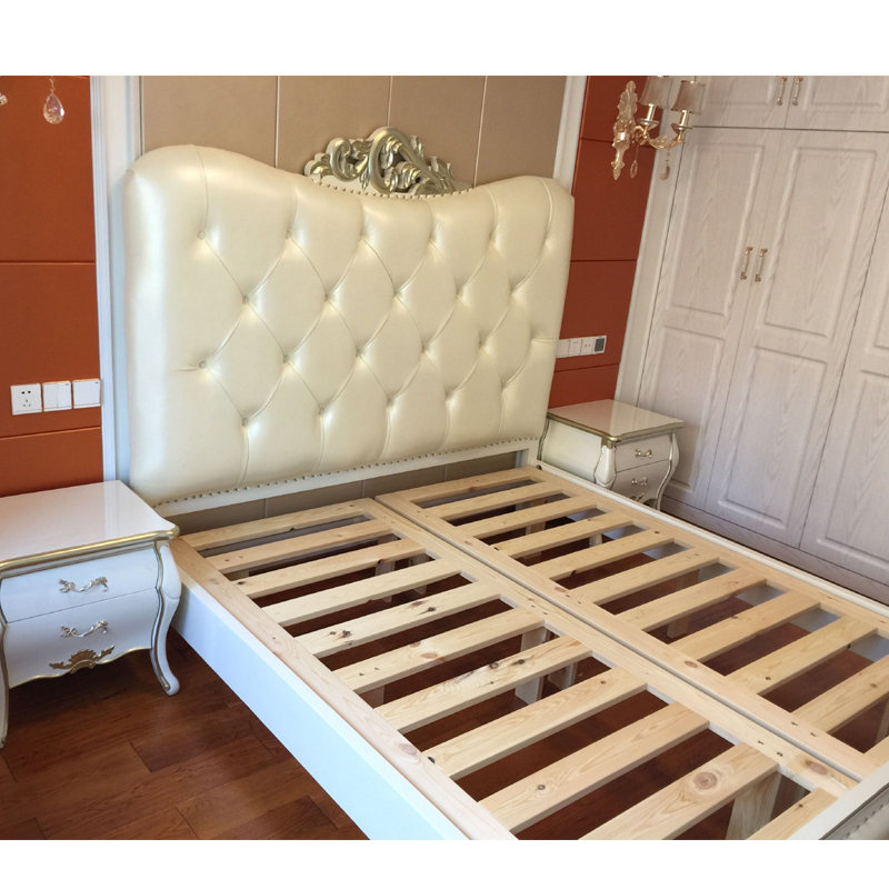 European style bed solid wood double bed 1.8 meters princess bed bed bed bed French neoclassical furniture simple European bed