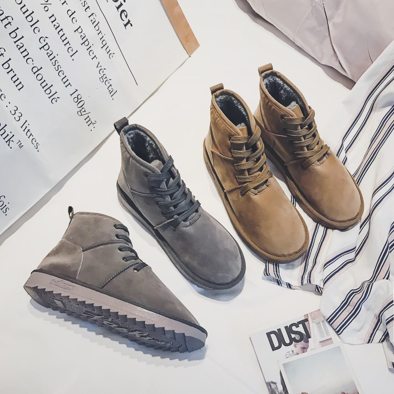 @文艺男女店冬季马丁靴男士高帮鞋韩版潮马丁鞋靴子军靴情侣鞋子