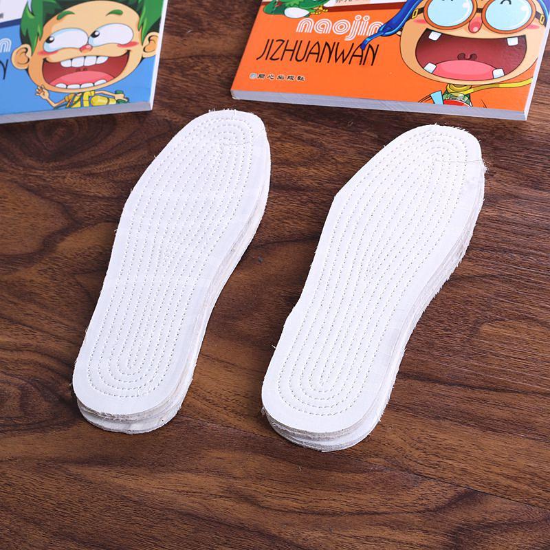 6双装 儿童四季通用千层布鞋垫宝宝可剪纯棉布吸汗透气鞋垫男女童