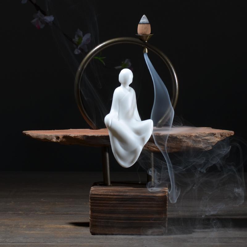творческие домашнего вспять кадило сандалового дерева печи выветривания керамические украшения дерева дзен корень Садо мягкие одежды Ароматерапия печь
