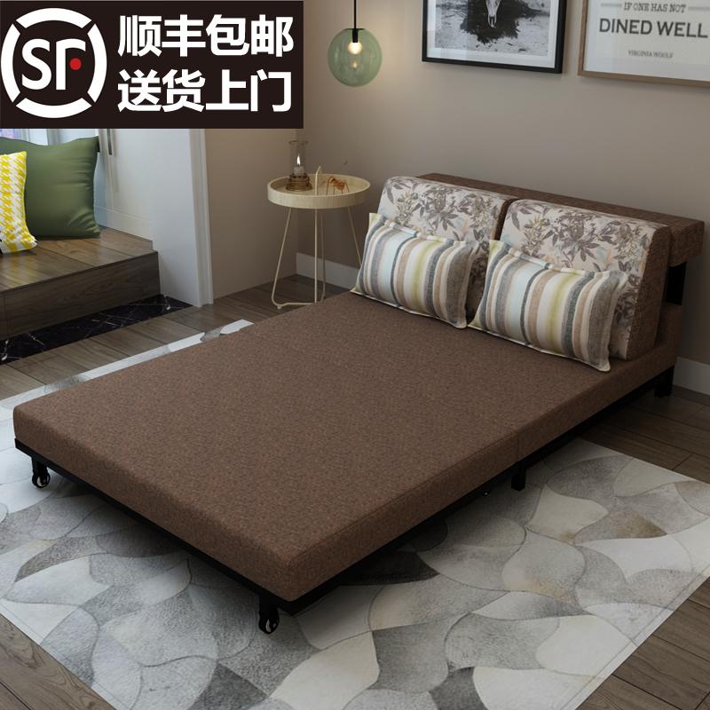 - väike suurus on diivan voodi multifunktsionaalse riidest lahti tõmmata 1,5 - 1,8 meetrit, topelt.