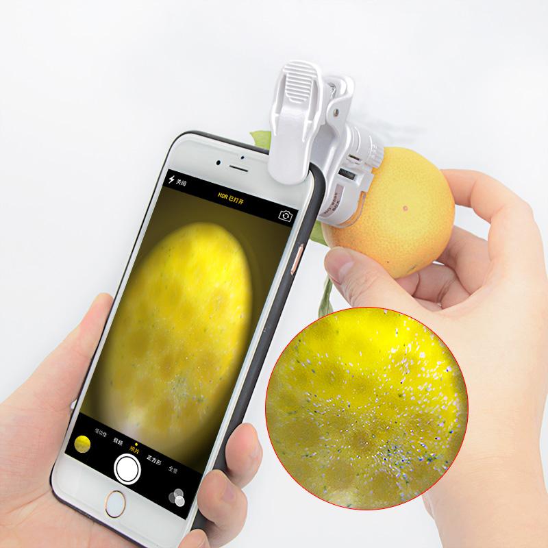 LUPA de 60 vezes por 100 vezes o telefone portátil Mini HD câmera antique jóias
