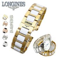 Ο λόντζινους m το ρολόι L2L4 λουρί με κεραμικά συγκρότημα ταινίες ιμάντα εξαρτήματα βραχιόλι για άνδρες και γυναίκες.
