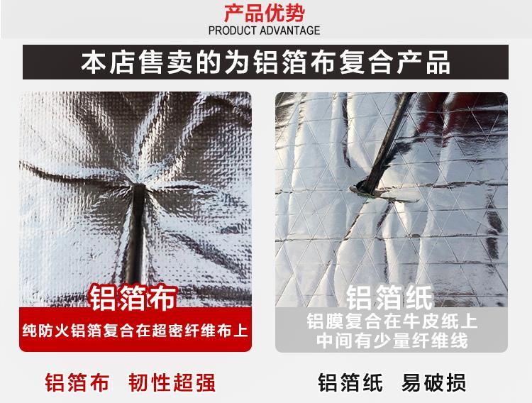 L'Isolamento termico di cotone resistenti al fuoco di autoadesivi di Materiali di Isolamento termico il tetto dell'Isolamento termico di un Foglio di Alluminio piatto di Sole setto atriale
