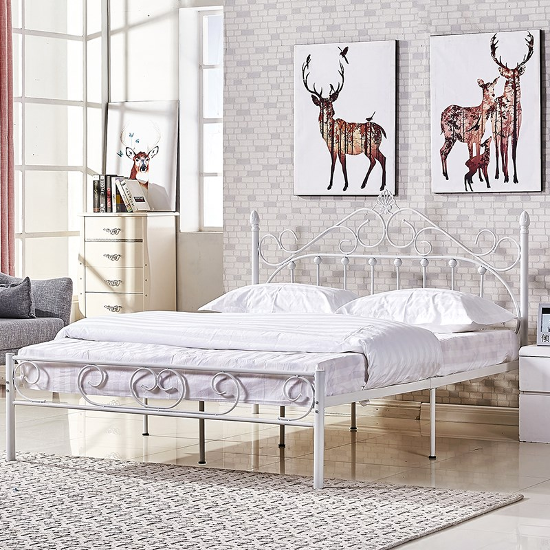 Single bed folding bed adult children simple household double bed iron bed iron bed 1.21.5 meters wide